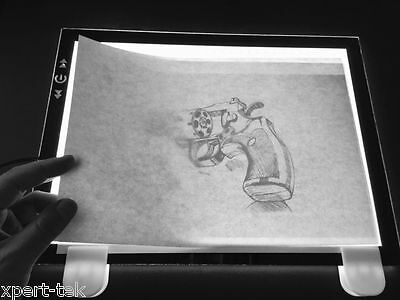 "19"" A3 LED Artist Tracing Board Drawing Box Stencil Tattoo Table Display Pad"