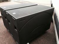 2x EV Electrovoice Phoenix PX2181 Bass Bin Cabinets + Covers + Casters + Choice of EV or B&C Drivers