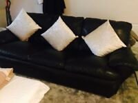 Black Leather 3 Seater for £40
