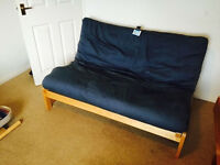 Double solid wood futon,sofa bed, good condition