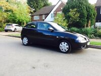2007 Black Seat Ibiza, 1.4L, 3 Door, Petrol, Manual, Long MOT, 110k Miles