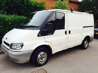 Ford Transit 2004 Van 13 Months MOT, HPi Clear, Manual DIESEL Panel Ply Lined, Roof Bars & Deadlocks