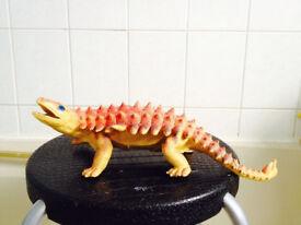 Orange Great Quality Hard Solid Detailed Ankylosaur Model Animal Figure Toy