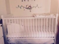 **COTBED FOR SALE £120 ONO***IMMACULATE CONDITION- NEWBORN TO 5YEARS