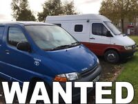 Toyota hiace van wanted!!!any year