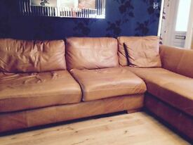 Brown leather couch for sale