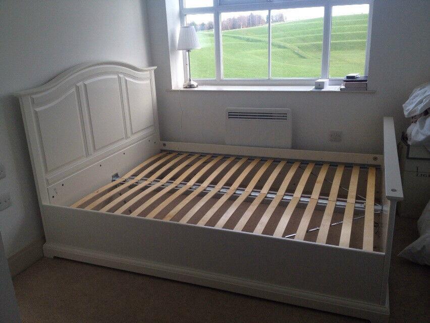 birkeland king size ikea bed frame and luroy bed base in worcester park london gumtree. Black Bedroom Furniture Sets. Home Design Ideas