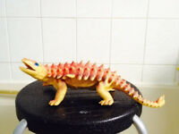 Orange Great Quality Hard Solid Detailed Ankylosaur Model Animal Figure Toy