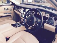 Rolls Royce GHOST or Phantom for Wedding Car Hire, Corporate all Occasions Chauffeur Driven