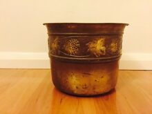 Vintage Brass or Copper Pot Vase Carlton Kogarah Area Preview