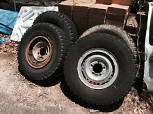 Landcruiser tyres split rims x4 Darlington Mundaring Area Preview