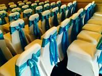 Chair covers for any event; weddings, birthdays, christmas