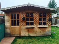 Oak wooden shed