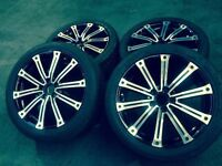 """GENUINE MERCEDES ML W164 20"""" ALLOYS WHEELS WITH CONTINENT TYRES SET OF 4"""