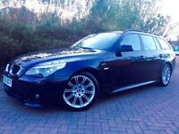 BMW 5 SERIES 2.0 520D M SPORT TOURING 5DR ##SERVICE HISTORY ##BLACK ##ALLOYS ##MANUAL ##2 KEYS