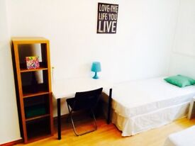 FANTASTIC DOUBLE/TWIN ROOM HABITACION DOBLE, 3 MNT WALK ISLAND GARDENS DLR, 5 MNT BUS CANARY WHARF,D
