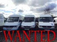 WANTED! MERCEDES SPRINTER ANY MODEL