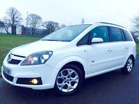 VAUXHALL ZAFIRA 1.9 CDTI DESIGN ##VERY RARE IN WHITE##AUTOMATIC ##SERVICE HISTORY ## PARKING AID