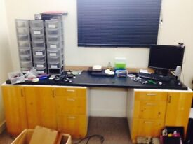 Office or Garage Work Station Built by myself Dismantled for collection