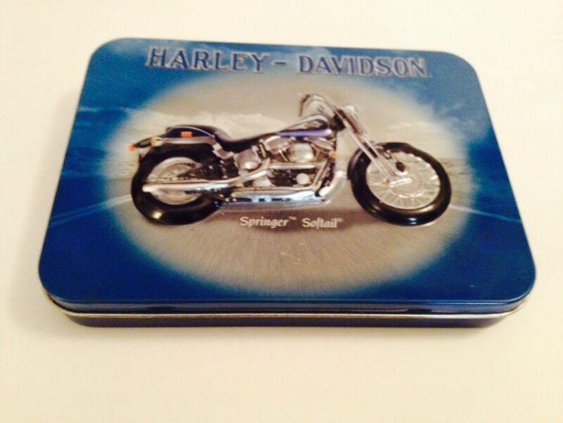 Springer Softail & Heritage Harley Davidson collectible tin sealed playing cards