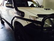 Steel side steps with brush bars suit Toyota Hilux******2015 dual cab Coburg Moreland Area Preview