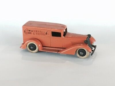 Tootsietoy Toy Commercial Tire Supply Metal White Tire Pre War Panel Van Truck