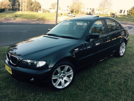 BMW 318i E46 2003 Black On Black Rare Manual Low 130000 Klms Castle Hill The Hills District Preview
