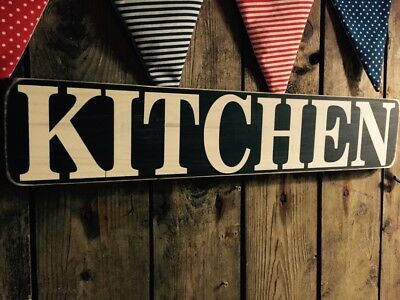 kitchen sign door room wooden vintage shabby large cooking farmhouse painted