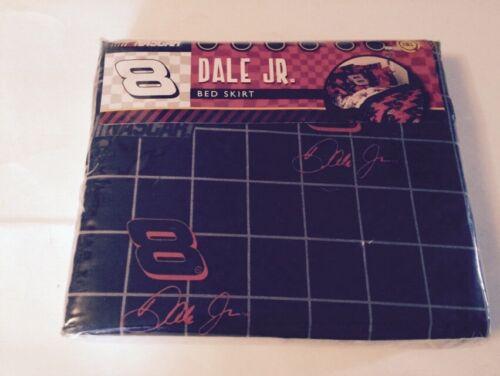DALE EARNHARDT JR NASCAR #8 FULL SIZE BED SKIRT BLACK RED