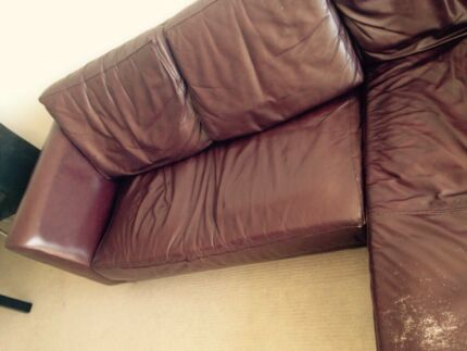 BARGAIN - Leather Couch sofa chaise lounge Balmain East Leichhardt Area Preview