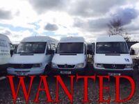 Volkswagen lt & crafter transporter & Mercedes sprinter wanted!!!