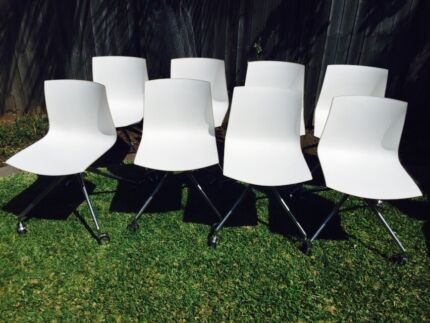 8 office meeting room chairs on castors Marrickville Marrickville Area Preview