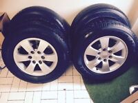 "GENUINE MITSUBISHI L200 17"" ALLOYS & 245/65/17 TYRES"