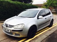 Volkswagen golf 1.6 match 5dr,low mileage,perfect in running.