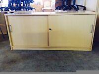 office furniture 2 sliding door cupboard in maple
