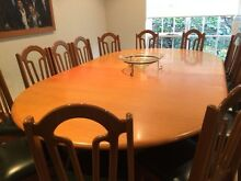Extendable Tasmanian oak dining / boardroom table and 18 chairs Ripponlea Port Phillip Preview