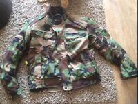 camoflauge biker jacket size xl