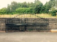 GRAB A BARGAIN! Wrought iron gates! Really solid and heavy!