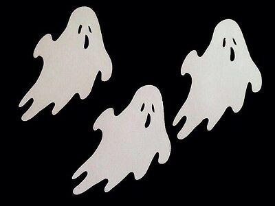 Halloween Ghost Cricut Die Cut Punchies White Cardstock Set Of 3 Handmade