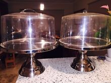 Two Cake Stands with Dome Lids great for events! SOLD PENDING Narraweena Manly Area Preview