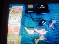 Nintendo ds light black with 30 games + a case