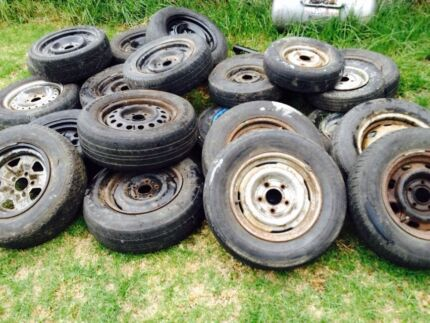 Wheels rims steelies old ford Holden Chrysler valiant commodore Sydenham Brimbank Area Preview