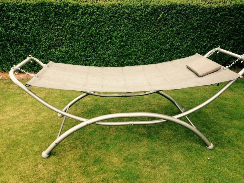b u0026q hammock full size single metal framed hammock  b u0026q hammock full size single metal framed hammock    in leicester      rh   gumtree