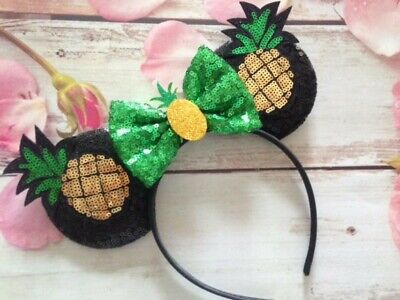 Pineapple Dole Whip Minnie Mouse ears headband-Disneyland-Disney World ()
