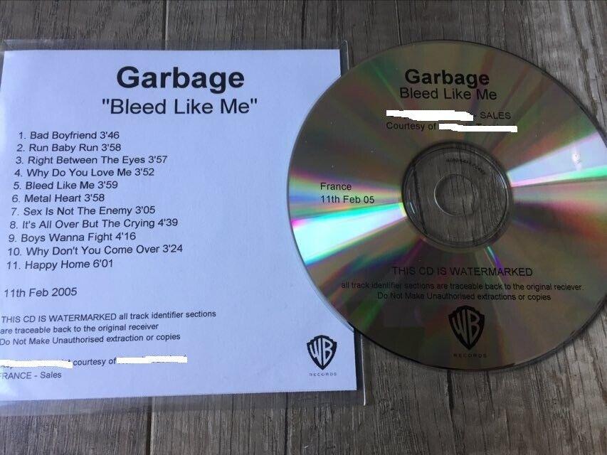 promotional cd sampler garbage bleed like me very rare item !!