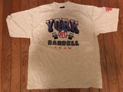 York NFL barbell team T shirt NEW (Nfl Team T-shirt)