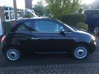 FIAT 500 Lounge Black 1.2, 61k Road Tax £30 Genuine Reason For Sale Owned From New Well Looked After