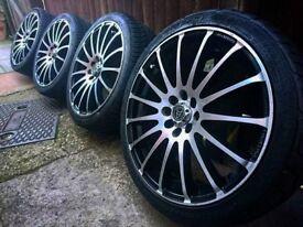 """Wolfrace Prosprint 17"""" alloys + tyres 4x100"""