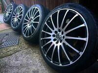 "Wolfrace Prosprint 17"" alloys + tyres 4x100"