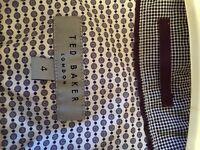 Men's Ted Baker white long sleeve shirt